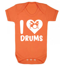 I love drums Baby Vest orange 18-24 months