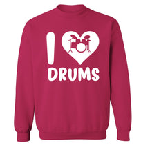 I love drums Adult's unisex pink Sweater 2XL