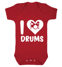 I love drums Baby Vest red 18-24 months