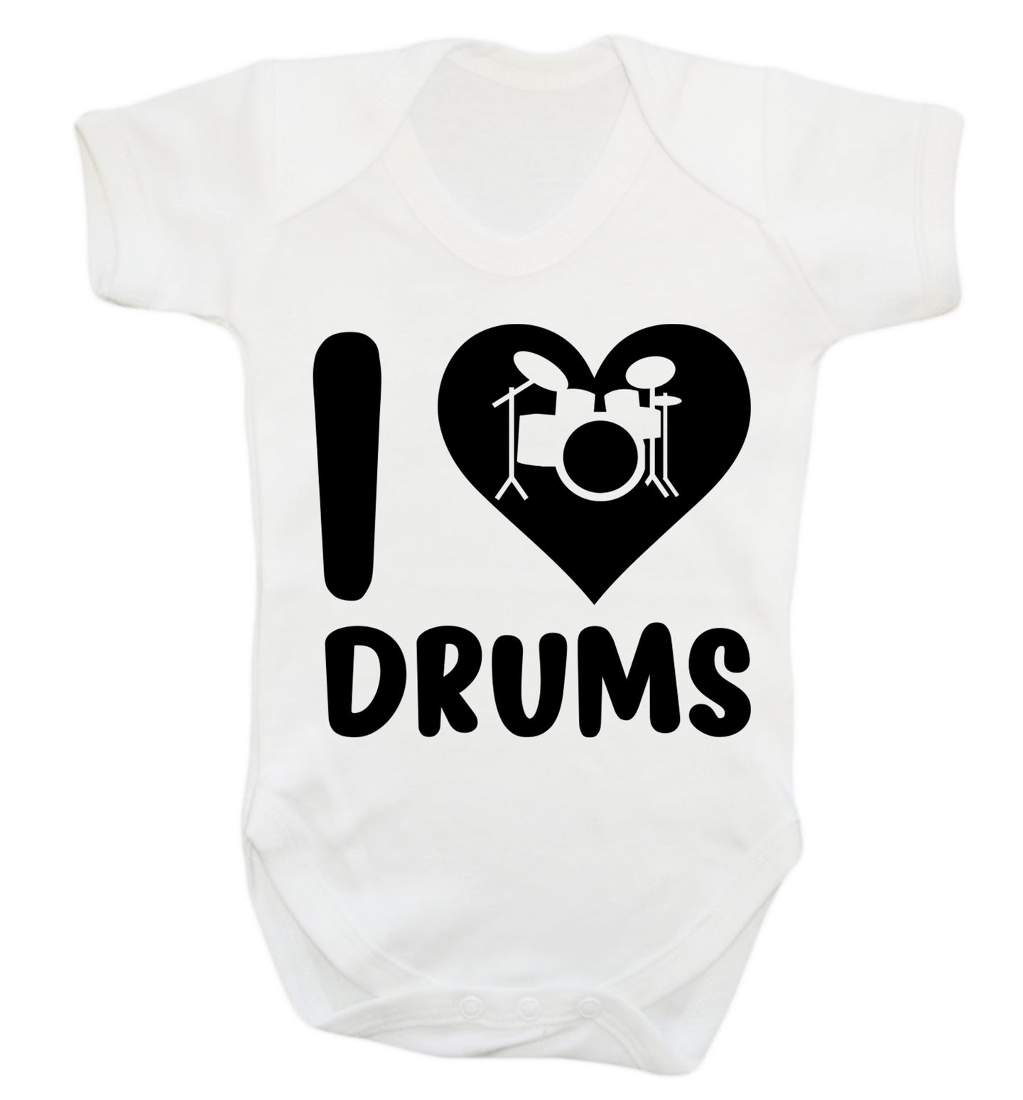 I love drums Baby Vest white 18-24 months