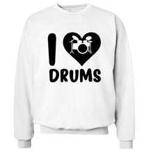 I love drums Adult's unisex white Sweater 2XL