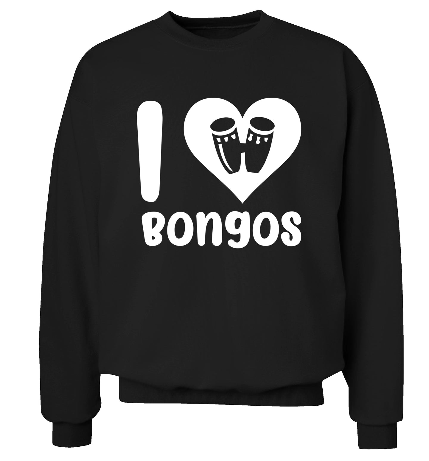I love bongos Adult's unisex black Sweater 2XL