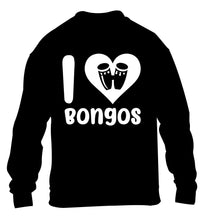 I love bongos children's black sweater 12-14 Years