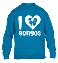 I love bongos children's blue sweater 12-14 Years
