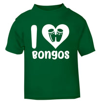 I love bongos green Baby Toddler Tshirt 2 Years