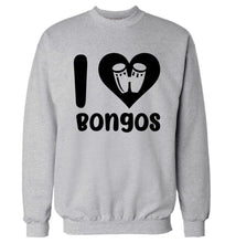 I love bongos Adult's unisex grey Sweater 2XL