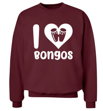 I love bongos Adult's unisex maroon Sweater 2XL