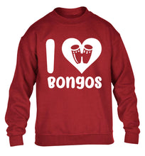 I love bongos children's grey sweater 12-14 Years