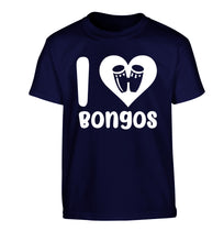 I love bongos Children's navy Tshirt 12-14 Years