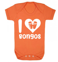I love bongos Baby Vest orange 18-24 months