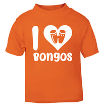 I love bongos orange Baby Toddler Tshirt 2 Years