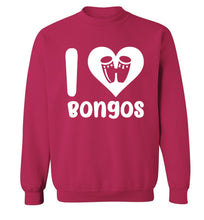 I love bongos Adult's unisex pink Sweater 2XL