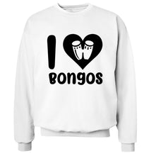 I love bongos Adult's unisex white Sweater 2XL