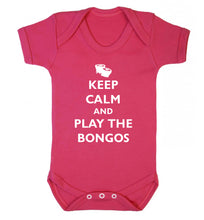 Keep calm and play the bongos Baby Vest dark pink 18-24 months