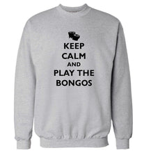 Keep calm and play the bongos Adult's unisex grey Sweater 2XL
