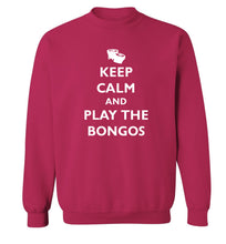 Keep calm and play the bongos Adult's unisex pink Sweater 2XL