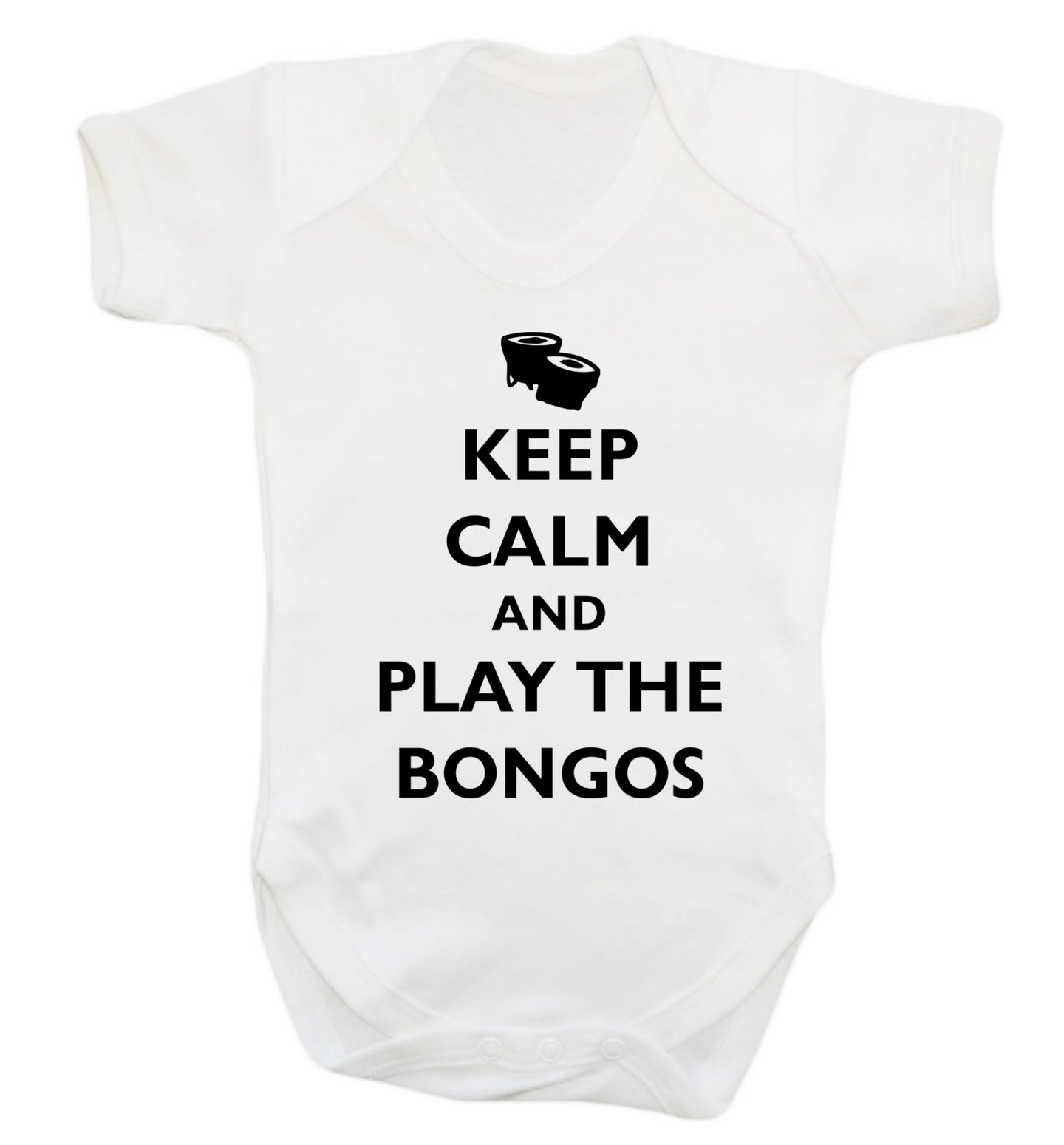 Keep calm and play the bongos Baby Vest white 18-24 months