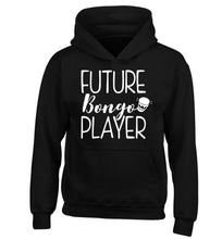 Future bongo player children's black hoodie 12-14 Years
