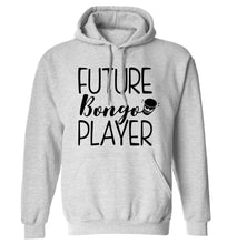 Future bongo player adults unisex grey hoodie 2XL