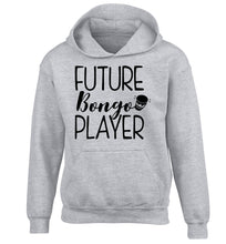 Future bongo player children's grey hoodie 12-14 Years