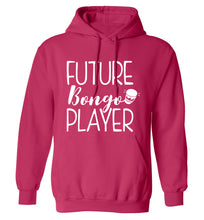 Future bongo player adults unisex pink hoodie 2XL