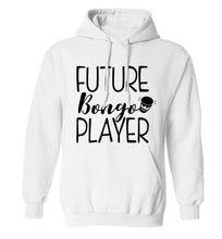 Future bongo player adults unisex white hoodie 2XL