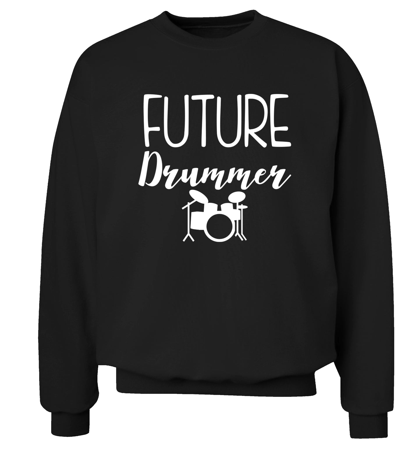 Future drummer Adult's unisex black Sweater 2XL