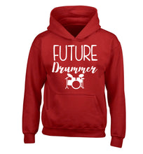 Future drummer children's red hoodie 12-14 Years