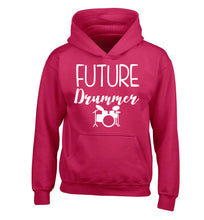 Future drummer children's pink hoodie 12-14 Years