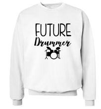 Future drummer Adult's unisex white Sweater 2XL