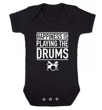 Happiness is playing the drums Baby Vest black 18-24 months