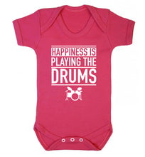 Happiness is playing the drums Baby Vest dark pink 18-24 months
