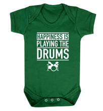 Happiness is playing the drums Baby Vest green 18-24 months