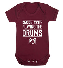 Happiness is playing the drums Baby Vest maroon 18-24 months