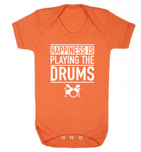 Happiness is playing the drums Baby Vest orange 18-24 months
