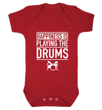 Happiness is playing the drums Baby Vest red 18-24 months