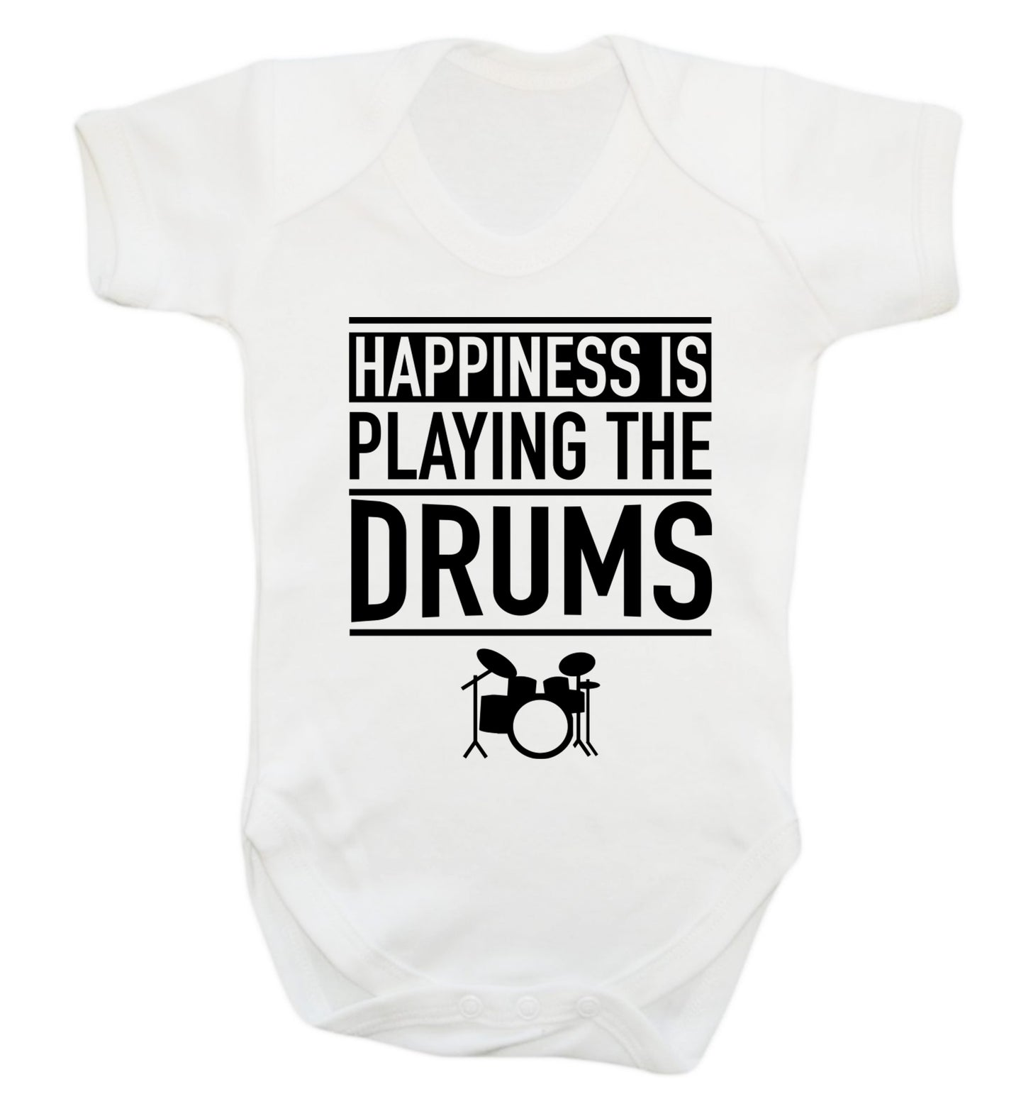 Happiness is playing the drums Baby Vest white 18-24 months