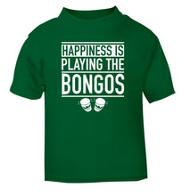 Happiness is playing the bongos green Baby Toddler Tshirt 2 Years