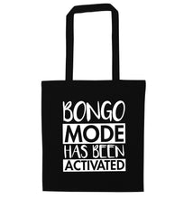 Bongo mode has been activated black tote bag