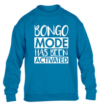Bongo mode has been activated children's blue sweater 12-14 Years