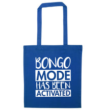 Bongo mode has been activated blue tote bag