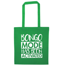 Bongo mode has been activated green tote bag