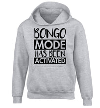 Bongo mode has been activated children's grey hoodie 12-14 Years