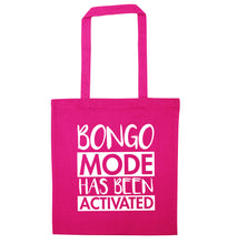 Bongo mode has been activated pink tote bag