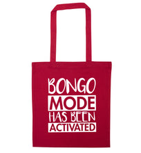 Bongo mode has been activated red tote bag