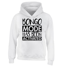 Bongo mode has been activated children's white hoodie 12-14 Years
