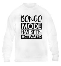 Bongo mode has been activated children's white sweater 12-14 Years