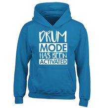 Drum mode activated children's blue hoodie 12-14 Years
