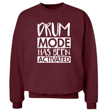 Drum mode activated Adult's unisexmaroon Sweater 2XL
