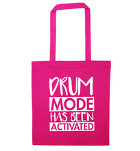 Drum mode activated pink tote bag